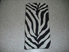 Eyeglass / Sunglass Soft Fabric Case - Heavyweight Black & White Zebra Print