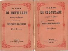 L'ARTE DI CONVITARE SPIEGATA AL POPOLO DAL DOTTORE RAJBERTI 2 VOL. 1937