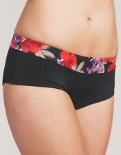 Midnight Grace Flamenco Rose Boy Short Bikini Brief Figleaves Black Red 503 NEW
