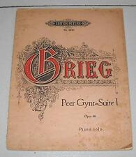 Spartiti GRIEG Peer Gynt Suite I Opus 46 - Pianoforte Piano Songbook Op Sheet