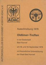 Oldtimer Treffen Bad Honnef ADAC Ausschreibung 1976 historische Fahrzeuge  PKWs