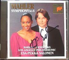 Esa-Pekka SALONEN Signiert MAHLER Symphony No.4 Barbara HENDRICKS CD Los Angeles