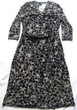 YORN Damenkleid MAJA Schwarz-Beige-Grau gemustert