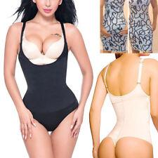 UK Women Sexy Full Body Shaper Thong Bodysuit Waist Cinchers Underbust Shapewear