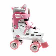 Girls Rollerskates. Quad Skates. SFR Storm White/Pink - Adjustable Quad Skates