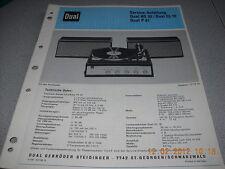 Dual HS32 CL10 P41 Service Manual