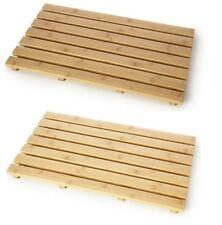 Naturale Legno/bambù duckboard in legno rettangolare bagno bagno doccia tappetino