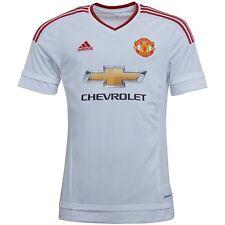 Adidas Para Hombre MUFC Manchester United Lejos Camiseta Blanco S, XXXL, 4XL