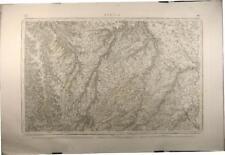 Gravure carte d'état major, Bernai, 1843