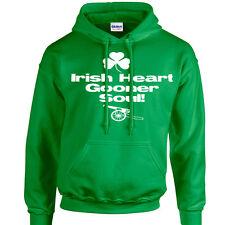 Gooner Arsenal Irish T-Shirt Hoodie Original Design Irish Heart Gooner Soul