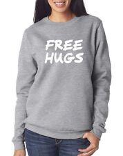 Free Hugs Funny Geek - Unisex Jumper - Black & Grey Sweatshirt