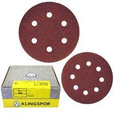 Klingspor PS22K 125mm & 150mm Velcro Wood & Metal Sanding/Sandpaper Discs