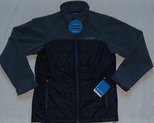 New Mens Columbia Barlow Pass Hybrid Soft Shell Jacket Black/Grey $130
