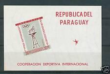 SPORT INTERNATIONAL COOPERATION PARAGUAY 1962 block b