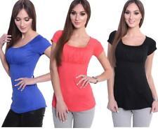 Shirt Tunika mit Raffungen U-Ausschnitt Gr. XS S M L XL 2XL 3XL