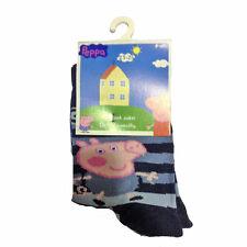 PEPPA PIG Calcetines largo azul de rayas 80%algodón 15%poliamida 5%elastano