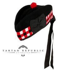 New Tartan Republic Scottish Piper Diced Glengarry Military Hat - Choose Size