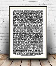 Baz Luhrmann, Sunscreen Lyrics, Motivational Quote, Poster, Wall Art, All Sizes