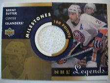 2001-02 UPPER DECK NHL LEGENDS MILESTONES JERSEY BRENT SUTTER ISLANDERS!! BOX 40