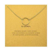 Halskette Karma Ring Kreis Kette Gold Silber Karma Circle Kette Necklace