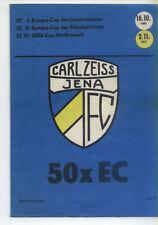 EC III 77/78 FC Carl Zeiss Jena - RWD Molenbeek 50 x EC, 02.11.1977