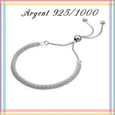 Bracelet chaine Pop, fermoir perle coulissante, En Argent 925/1000. Réf: BRPS8