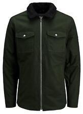 JACK & JONES Mens Core Sherpa Collar Jacket Worker Fashion Warm Winter Over Coat