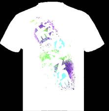 Surrender The Dance Floor Men's Paint Splatter T-shirt White  L - XL NEW