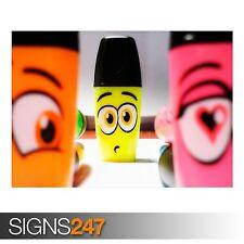 Drôle de marqueurs (AD587) Funny Poster-Photo Poster print ART A0 à A4