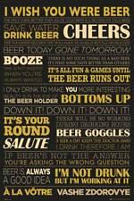 Bier - Life - Alkohol und Drogen - Poster Druck 61x91,5 cm
