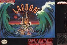 LAGOON Super Nintendo SNES Game Cartridge