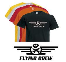 T-shirt FLYING CREW, aviation, pilote, aéronautique, avion, S,M,L,XL, NEUF, NEW