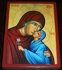 Heilige Anna mit Maria Muttergottes Madonna Ikone Icon Icone Ikona Ikonen Icoon