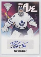 2011 Panini Titanium New Wave Signatures 7 Ben Scrivens Toronto Maple Leafs Auto