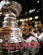 Wayne GRETZKY RAISES The STANLEY CUP for The EDMONTON Oilers 11X14 w/ COFFEY !!!