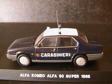 ALFA ROMEO ALFA 90 SUPER 1986 CARABINIERI DEAGOSTINI 1/43 POLIZIA ITALY POLICE