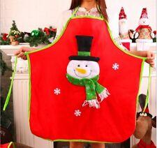 UK Seller Christmas Xmas Santa Snowman Apron Kitchen Dining Cooking Craft Baking