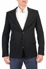 Prada 100% Wool Black Two Buttons Men's Blazer Size 38R 40R 42R