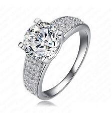 Anillo,anillo de boda chapado platino,solitario circonio,múltiples elementos