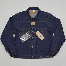 BOB DONG Repro 11MJ Pleated 1940s Western Selvage Denim Jacket Vintage Jean Coat
