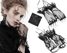 Mitaines gant dentelle gothique lolita victorian baroque broderie ruban Punkrave