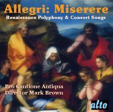 CD ALLEGRI MISERERE PALESTRINA MORLEY BYRD TALLIS SCHUTZ ARCADELT MONTEVERDI