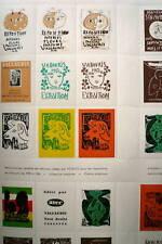 Pablo Picasso linogravure timbre 1956 Arnera planche de timbres