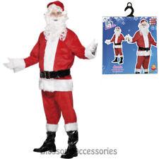 CA117 8pcs Complete Santa Claus Suit Christmas Xmas Fancy Dress Costume Outfit