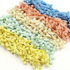 5Yards 20mm Pom Pom Trim Ball Fringe Ribbon RAwing Accessory Lace DIY  RA
