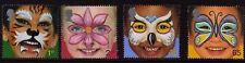 GB 2001 Bambini Face Painting SG 2178-2181 Gomma integra, non linguellato Nuovo di zecca