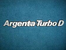 Emblem / Badge Fiat Argenta Turbodiesel Turbo D