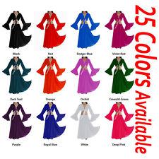 TMS Chiffon Skirt Ruffle Top Set Belly Dance Gypsy Club Costume Dress 25 Colors