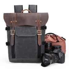 Camera Backpack Canvas SLR DSLR Large Padded Camera Travel Bag Lens Organizer