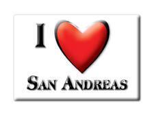 SOUVENIR USA - CALIFORNIA FRIDGE MAGNET I LOVE SAN ANDREAS (CALAVERAS COUNTY)